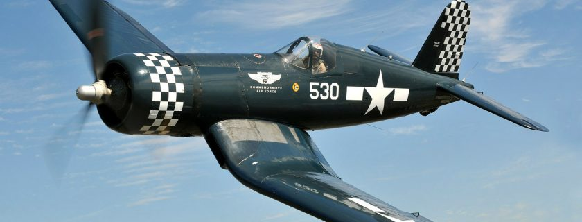 """The CAF's FG-1D """"530"""" is one of the original airframes that launched the Commemorative Air Force. ( Photo By Luigino Caliaro)"""