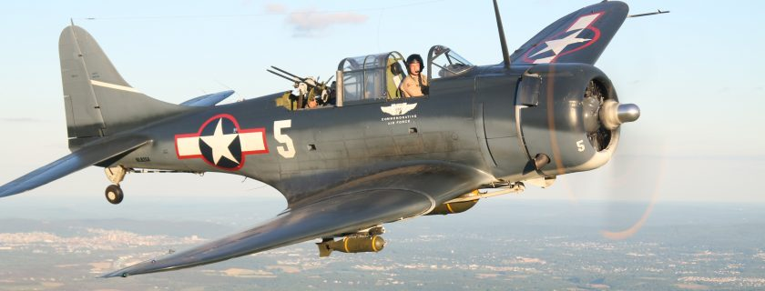 Our SBD-5 Dauntless is an original NAVY airplane. ( Photo by Stephen Chapis)