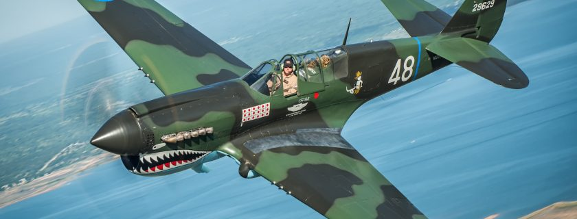 The CAF P-40 Warhawk. Photo by Glenn Watson